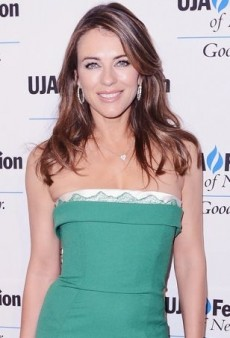 Elizabeth Hurley Goes Green for a Gala in DSquared2