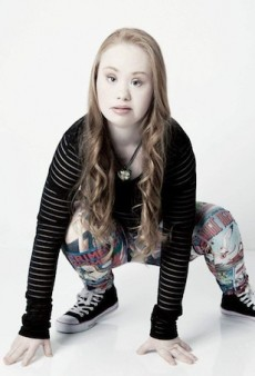 Model with Down Syndrome Gains Global Attention