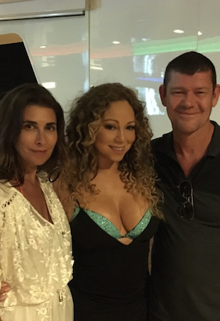 Jodhi Meares, James Packer and Mariah Carey in Italy