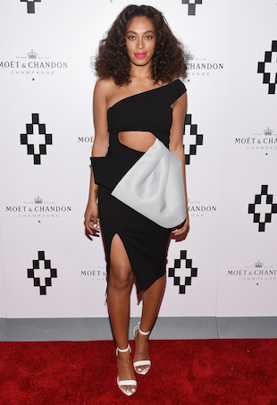 Solange Knowles wears Maticevski in New York