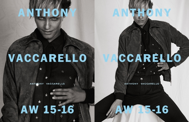 Anthony Vaccarello Fall 2015 Ad Campaign Amber Valletta by Inez & Vinoodh