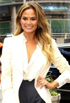 Chrissy Teigen Suits up for Summer in H&M