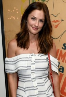Minka Kelly Shows a Little Shoulder in a Summery Striped Dress