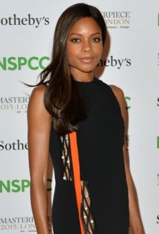 Naomie Harris Flashes Some Leg in Mugler