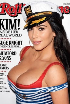 Kim Kardashian's Boobs Cover Rolling Stone
