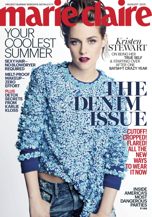 US Marie Claire August 2015 Kristen Stewart by Tesh