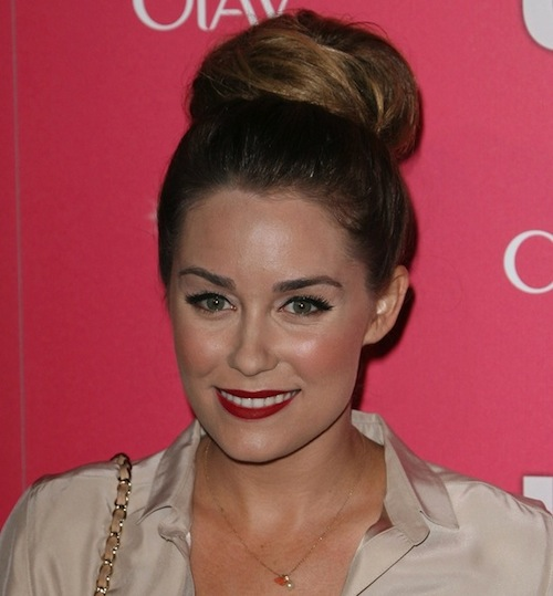 Lauren Conrad wears a sock bun