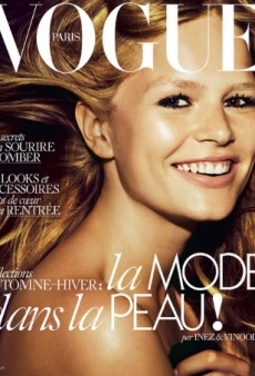 Vogue Paris Recreates a Cover from 1973 with Anna Ewers for August 2015 (Forum Buzz)