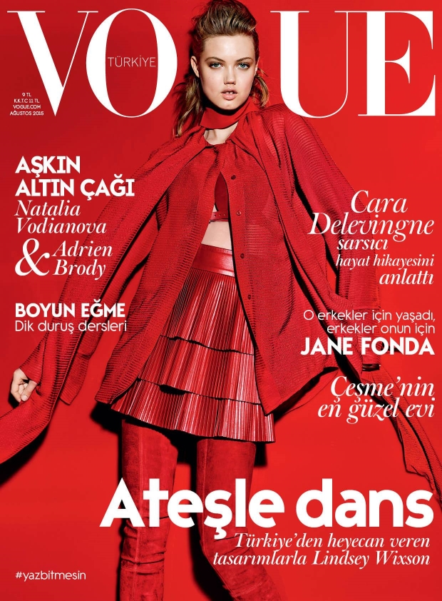 Vogue Turkey August 2015 Lindsey Wixson by Richard Burbridge