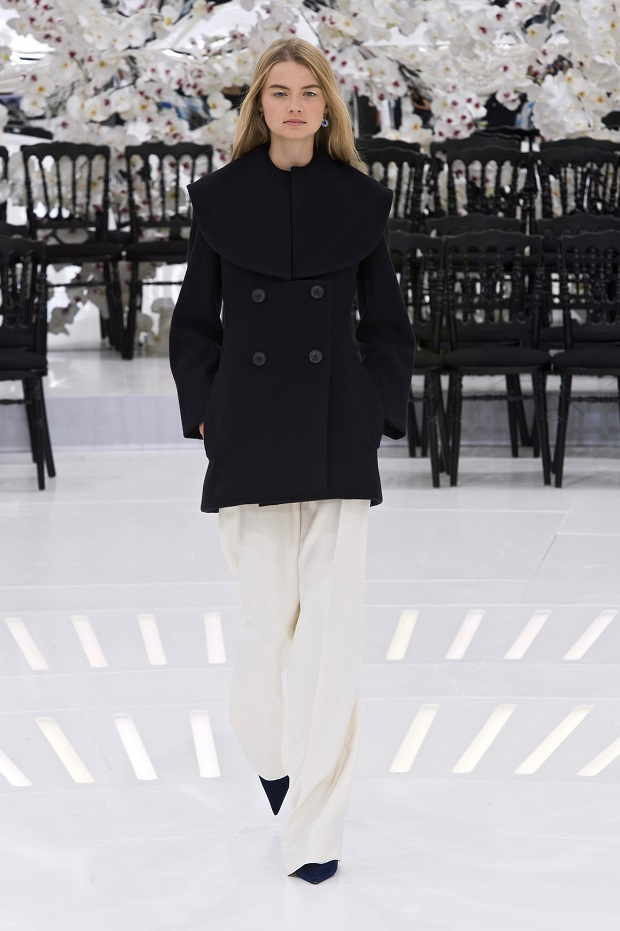 No stranger to Haute Couture week, Georgie walked for Dior's Fall 2014 collection