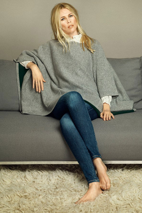 Claudia Schiffer for TSE Cashmere