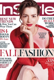 Lady In Red: Anne Hathaway Stars on InStyle's September Cover (Forum Buzz)