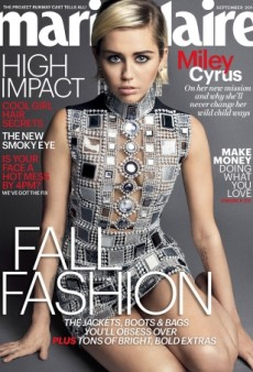 Miley Cyrus Gets a New Look on Marie Claire's September Cover — and We Like It! (Forum Buzz)