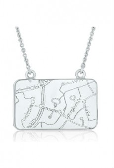 We're Giving Away a Gorgeous Sterling Silver and Diamond Maps by A.JAFFE Necklace!