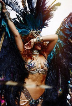 The Mirror Calls Rihanna's Kadooment Day Costume 'Raunchy' in Epic Headline Fail