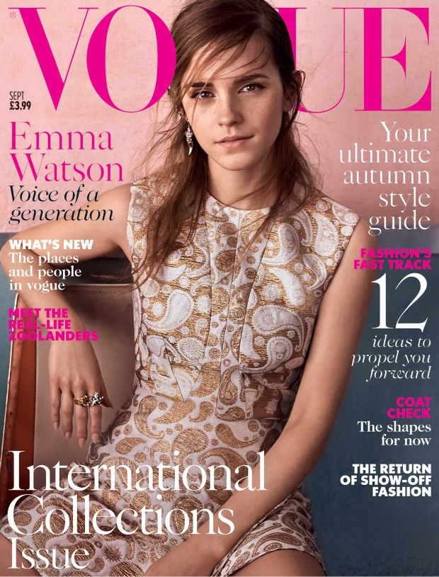 UK Vogue September 2015 Emma Watson by Josh Olins