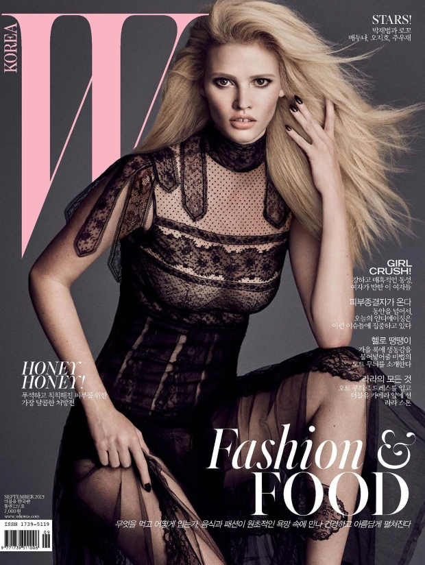 W Korea September 2015 Lara Stone by Luigi and Iango