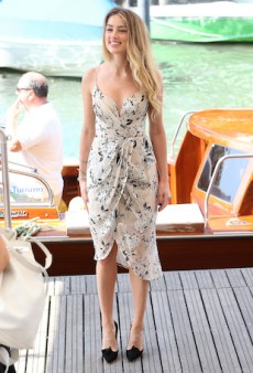 Amber Heard in Zimmermann for Venice Film Festival Is the Sweetest Thing Ever