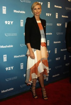 Charlize Theron Nails Business-Chic in Zimmermann for the 2015 Good Summit