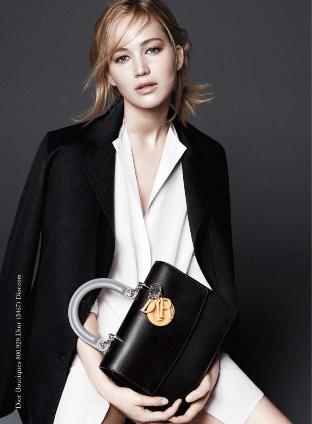 Christian Dior Handbags Fall 2015 Jennifer Lawrence by David Sims
