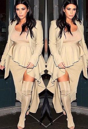 Kim Kardashian Wears Yeezy Season 2 Shoes TheFashionSpot