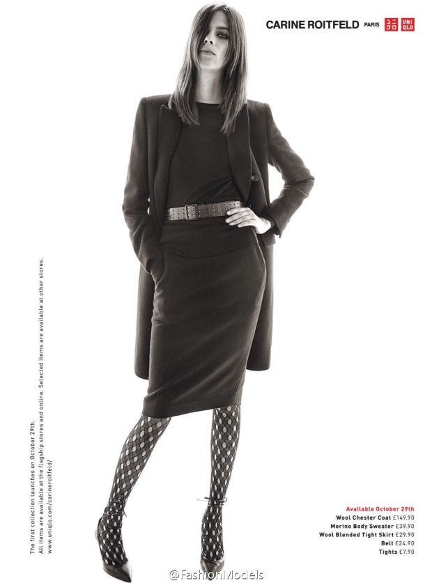 Uniqlo × Carine Roitfeld Collection Lexi Boling by Steven Meisel
