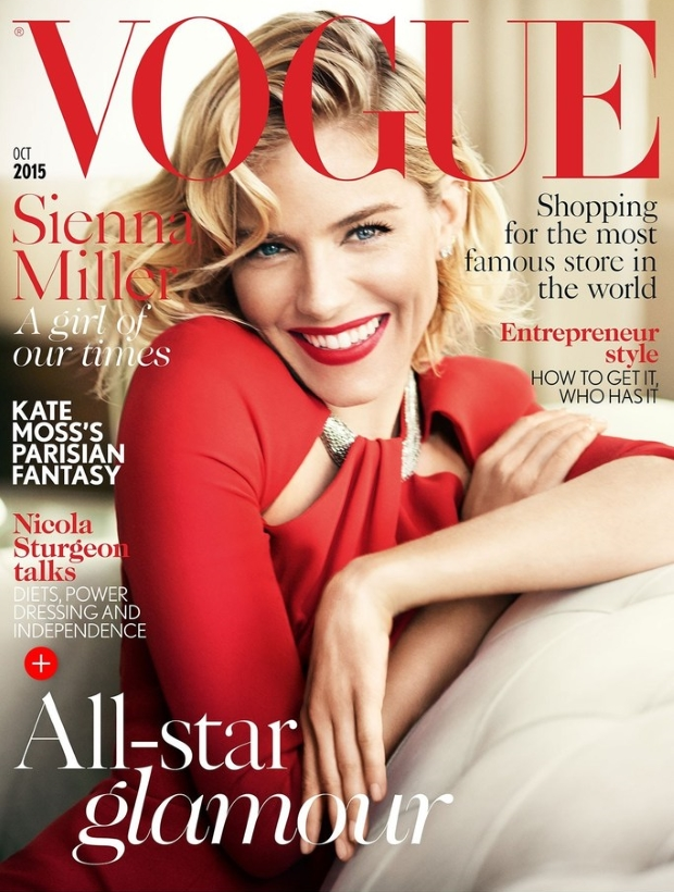 UK Vogue October 2015 Sienna Miller by Mario Testino
