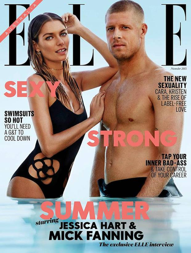 Mick Fanning and Jessica Hart Cover ELLE Australia November 2015