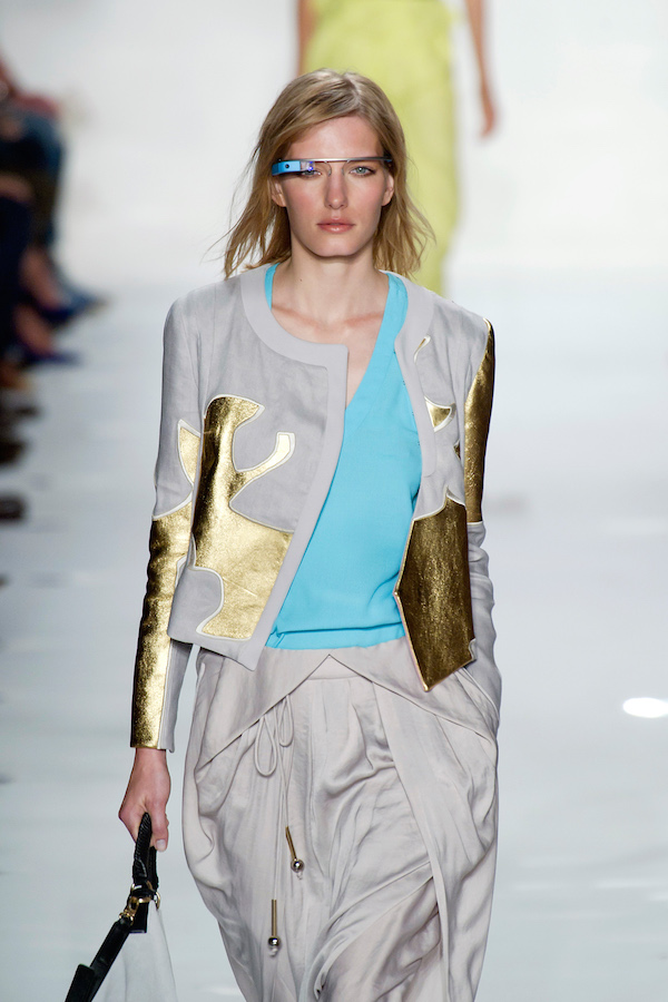 Diane von Furstenburg's futuristic google glasses showcased during Spring/Summer 2013 runway show