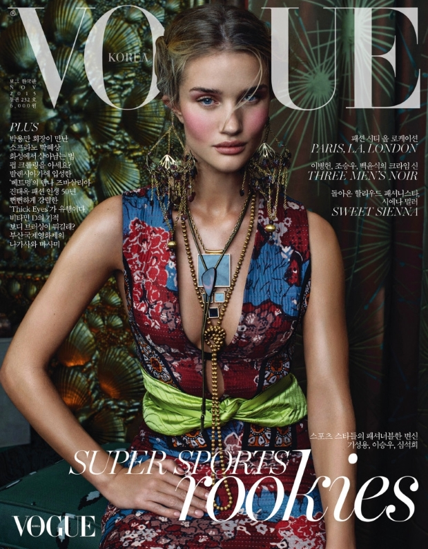 Vogue Korea November 2015 : Rosie Huntington-Whiteley by Sebastian Kim