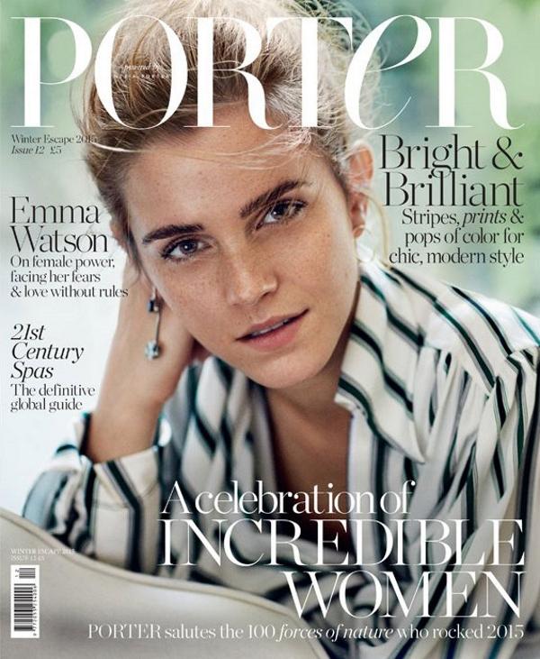 Porter #12 Winter Escape 2015 : Emma Watson by Cass Bird