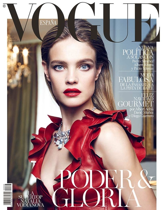 Vogue España December 2015 : Natalia Vodianova by Nico Bustos