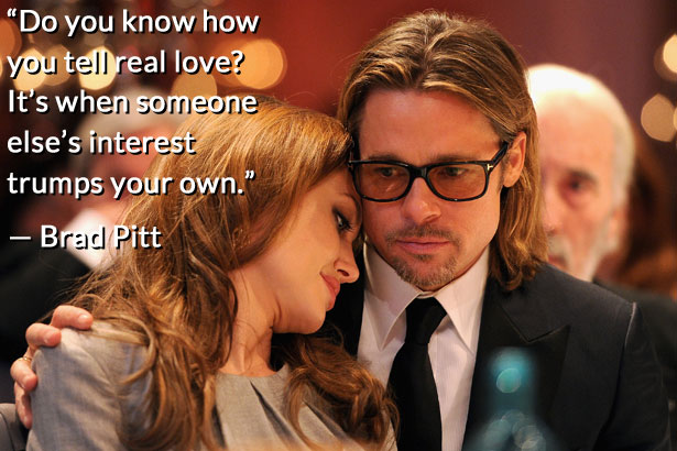 Brad Pitt and Angelina Jolie relationship quote