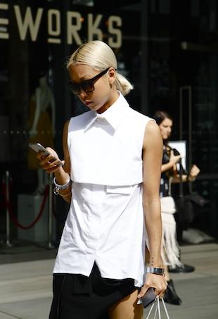 Vanessa Huong on phone