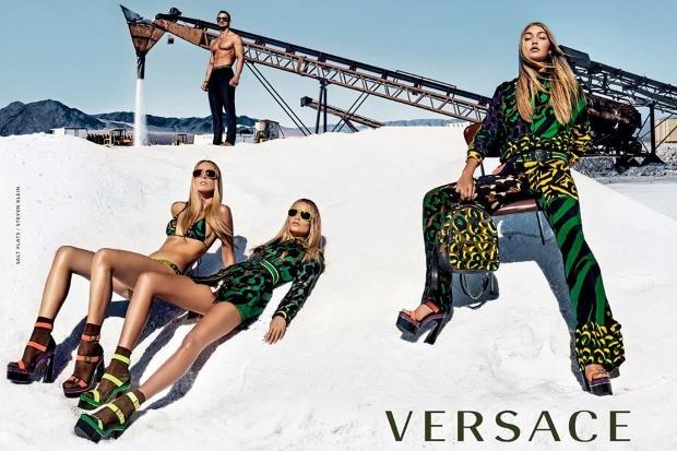 Versace S/S 2016 : Gigi Hadid, Natasha Poly & Raquel Zimmerman by Steven Klein