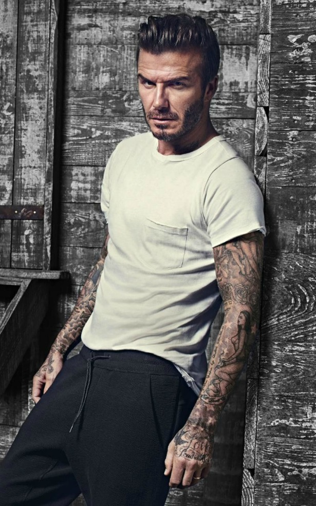 david beckham smolders in new h m bodywear ads thefashionspot. Black Bedroom Furniture Sets. Home Design Ideas