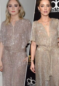 Style Showdown: Saoirse Ronan and Amber Heard Turn Up the Sparkle in Temperley London and More Matching Celebs