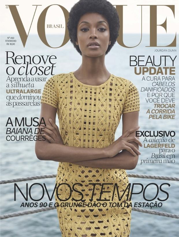 Vogue Brazil February 2016 : Jourdan Dunn by Zee Nunes