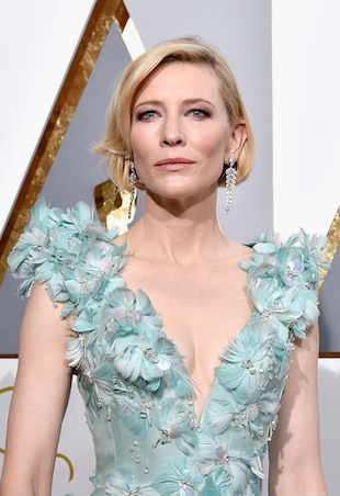 HOLLYWOOD, CA - FEBRUARY 28: Actress Cate Blanchett attends the 88th Annual Academy Awards at Hollywood & Highland Center on February 28, 2016 in Hollywood, California. (Photo by Kevork Djansezian/Getty Images)
