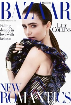 We're Obsessed With Lily Collins' Simple Yet Stunning Harper's Bazaar Australia Cover (Forum Buzz)