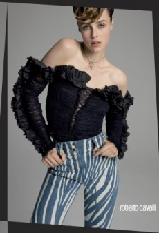 Edie Campbell Is Sorely Miscast in Roberto Cavalli's Spring Campaign (Forum Buzz)