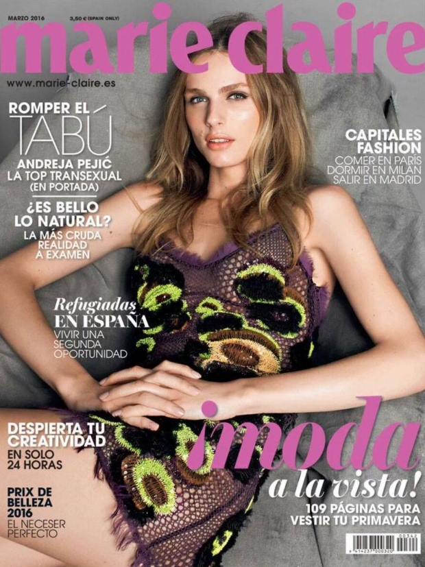 Marie Claire Spain March 2016 : Andreja Pejic by Pablo Zamora