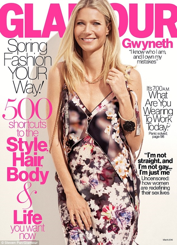 US Glamour March 2016 : Gwyneth Paltrow by Steven Pan