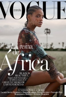 Aya Jones Captivates on Vogue Spain's Breathtakingly Beautiful March 2016 Cover (Forum Buzz)