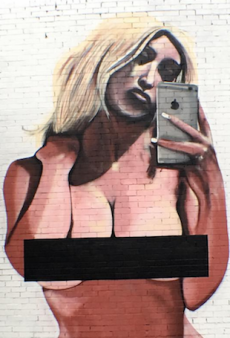 Melbourne's Kim Kardashian Mural Has Already Been Defaced