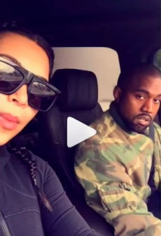 Watch: Kim and Kanye Do Their Own Version of Carpool Karaoke on Snapchat