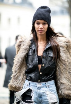 Street Style: Supermodels Snapped Off Duty at Paris Fashion Week Fall 2016