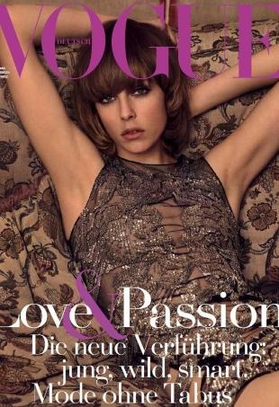 Vogue Germany April 2016 : Edie Campbell by Luigi & Iango
