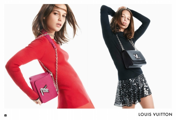 Louis Vuitton Handbags S/S 2016 : Alicia Vikander by Patrick Demarchelier