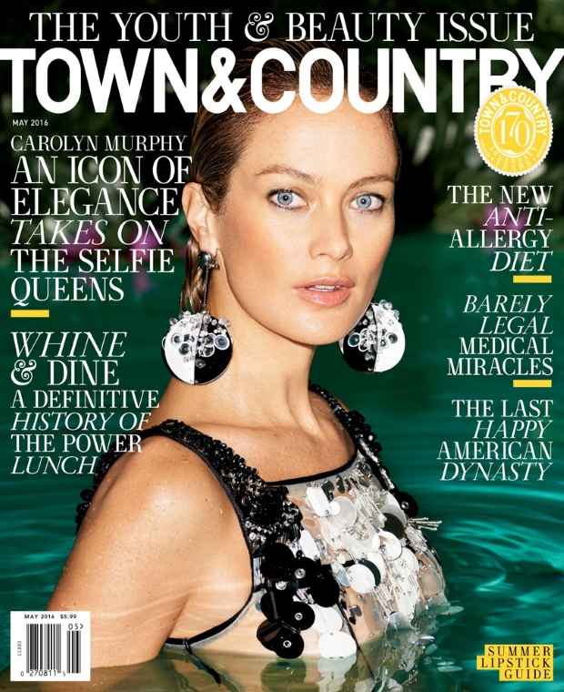 Town & Country May 2016 : Carolyn Murphy by Terry Richardson